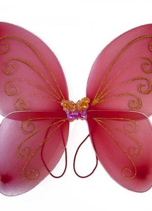 Маскарадные крылья для костюма бабочки красные