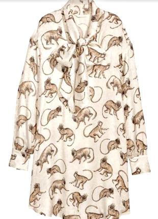 Классное платье с обезьянами от h&m