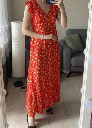 Натуральное макси платье в цветочный принт pimkie