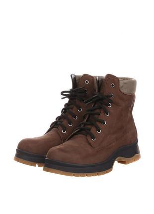 Осенние ботинки hd без декора из натурального нубука