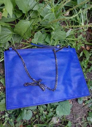 Zara летняя сумка на цепочке