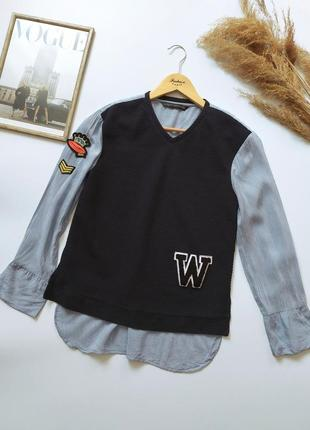 Классная рубашка обманка zara