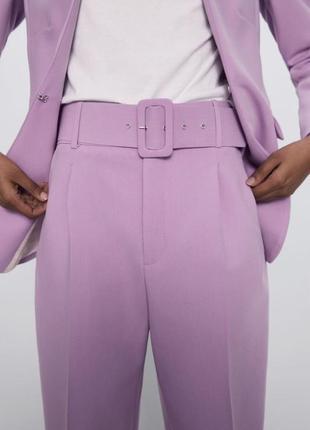 Zara брюки с высокой посадкой без пояса классические брюки
