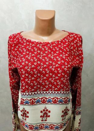 415. великолепная вискозная блузка boohoo в яркий принт.