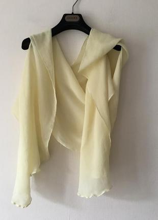 Шелковая блуза- накидка