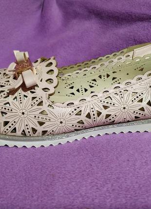 Розовые пудровые балетки2 фото
