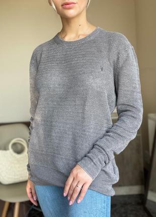 Льняной свитер, кофта allsaints оригинал