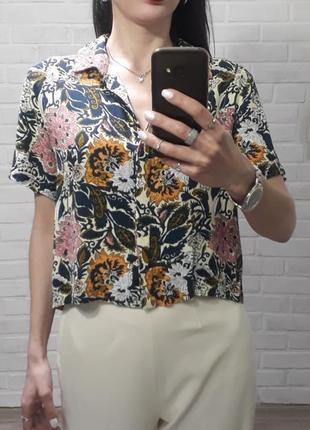 Стильная рубашка кроп топ