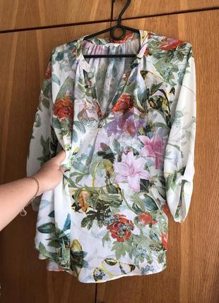 Блузка легкая летящая блуза топ майка футболка