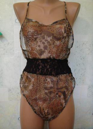 Сексуальное прозрачное боди с гипюром от ann summers