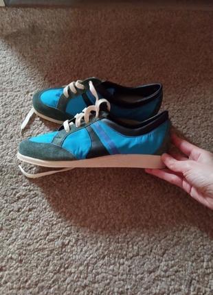 Винтажные кроссовки из замша и текстиля