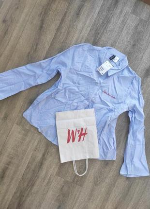 Рубашка хлопок h&m