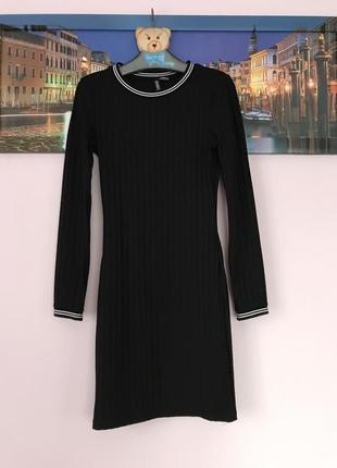 Платье в рубчик от h&m