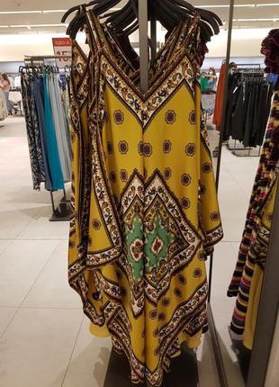 Сукня з принтом і пов'язкою для волосся, zara! оригінал, з португалії!