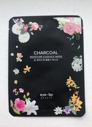 Увлажняющая тканевая маска с древесным углем eyenlip charcoal moisture essence mask