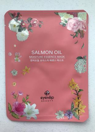 Увлажняющая тканевая маска с лососевым маслом eyenlip salmon oil moisture essence mask