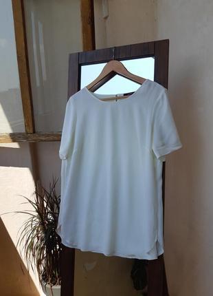 Футболка из вискозы свободная прямая блуза из вискозы