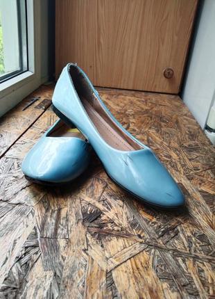 Балетки туфли лаковые