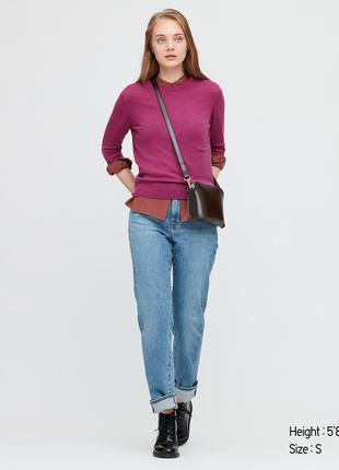 Шерстяной свитер uniqlo меринос
