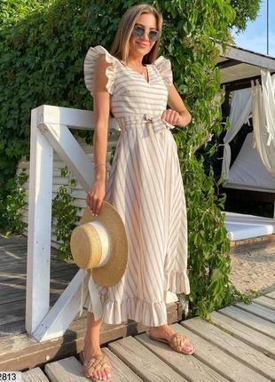 Летнее льняное платье