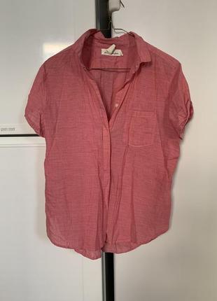 Легкая рубашка h&m натуральная ткань