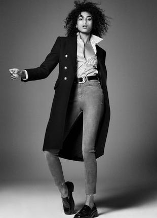 Cерые базовые джинсы zara, 34р, оригинал, испания