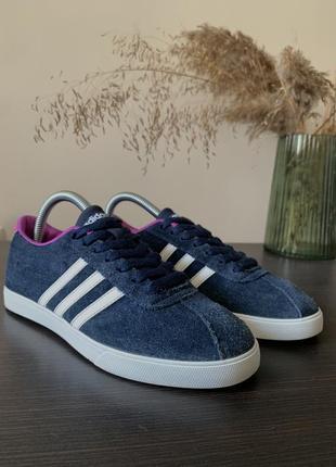 Сині кросівки adidas courtset neo оргинальные кроссовки