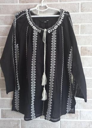 Лёгкая оригинальная блузка 44р