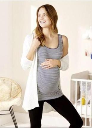 Скидки! полосатая майка для беременных от esmara