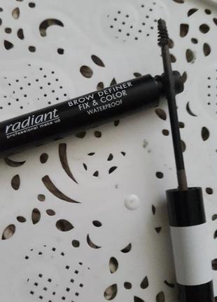 Водостойкая тушь для бровей brow definer  fix&color radiant