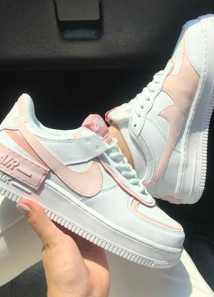 Nike air force shadow light orange, кроссовки женские