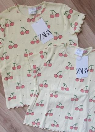 Детская футболка в рубчик zara 104 см и 110 см