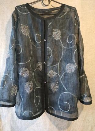 Блузка блуза туника накидка шелковый пеньюар sulu.