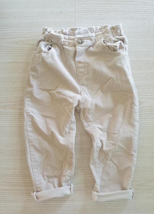Вельветовые штаны zara 2-3года