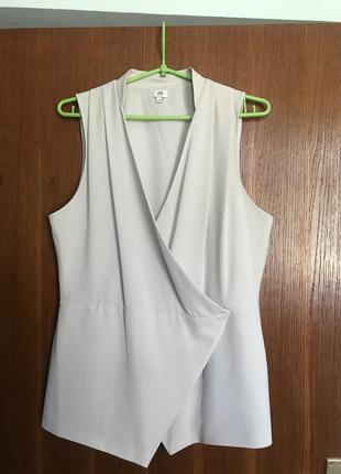 Блузка пиджак без рукавов