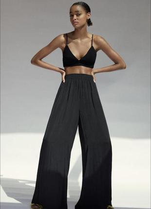 Палаццо сатин шёлк, брюки в бельевом стиле