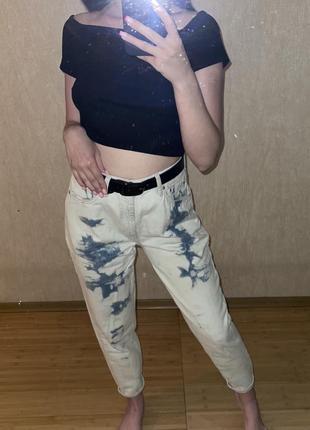Mom джинсы pull&bear