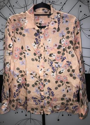 Женская льняная рубашка pure linen