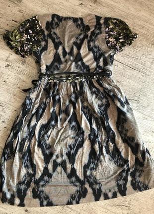 Шикарное платье roberto cavalli ит.р 38 это xs/s