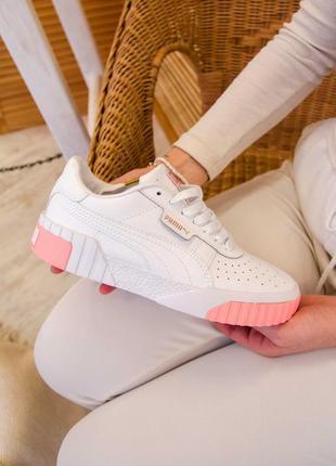 Puma cali white/pink