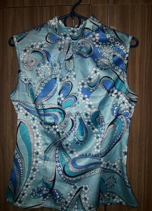 Блуза  стрейч/атлас, в идеале.