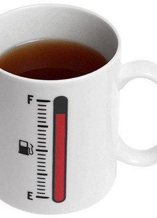 Чашка хамелеон tank up с термометром