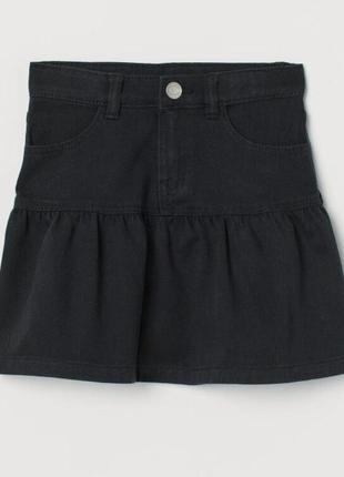 Нова джинсова спідничка, спідниця для школи h&m denim 122 128 134
