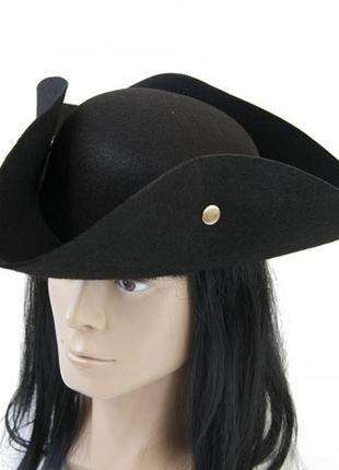 Шляпа пирата треуголка с заклепками