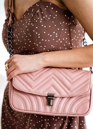 Женская молодежная сумка клатч aliri-645-10 пудровая