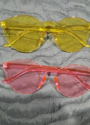 Очки желтые розовые