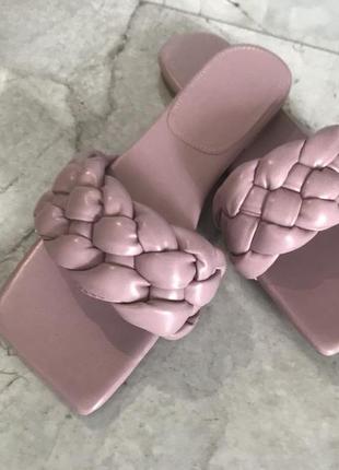 Шлёпанцы квадратный носок