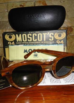 Очки солнцезащитные moscot lemtosh sun (blonde\calibar green) джонни депп