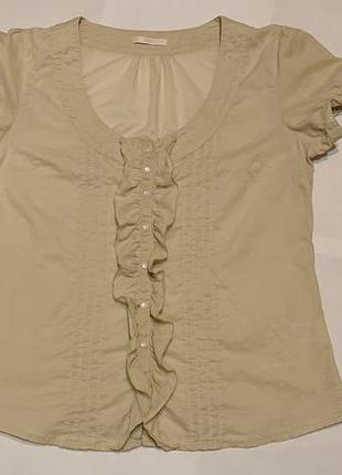 Женская хлопоковая блуза marks & spencer блузка m-l, uk 14, наш 46-48 хлопок