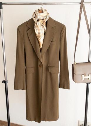 Итальянское шикарное шерстяное пальто премиум качества